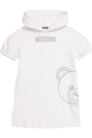 Moschino Logo stretch-cotton hoodie dress