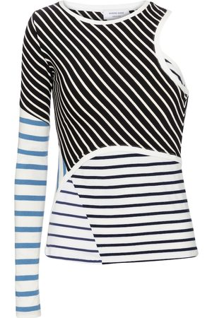 Marine Serre Striped cotton top