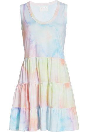 SOL ANGELES Women's Watercolor Tier Dress - Watercolor - Size Large
