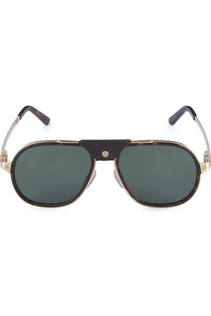 Cartier Women Aviators - Women's Core Range 57MM Aviator Sunglasses - Havana