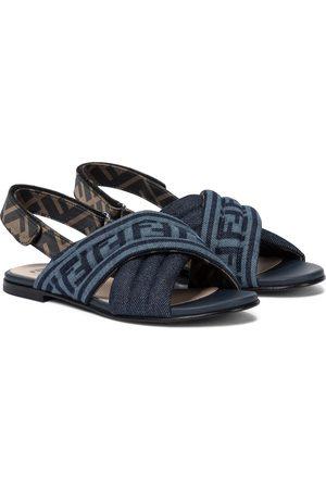 Fendi FF denim sandals