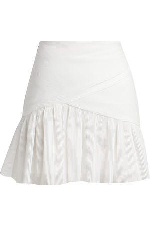 ZIMMERMANN Women Mini Skirts - Women's Wild Botanica Pleated Mini Skirt - Pearl - Size 0
