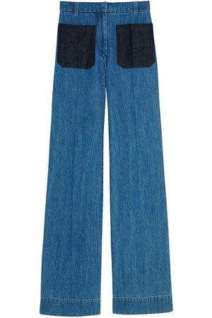 Victoria Beckham Women's High-Waist Patch Pocket Jeans - - Size 25