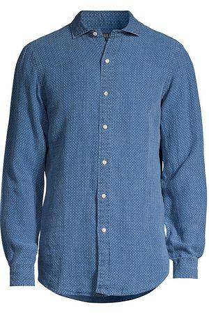 Polo Ralph Lauren Women T-shirts - Women's Printed Linen Sport Shirt - Diamond Geo - Size Medium