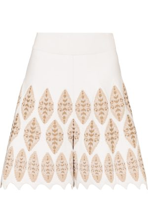 Alaïa High-rise jacquard shorts