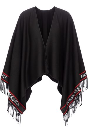 Alexander McQueen Logo intarsia wool and cashmere shawl
