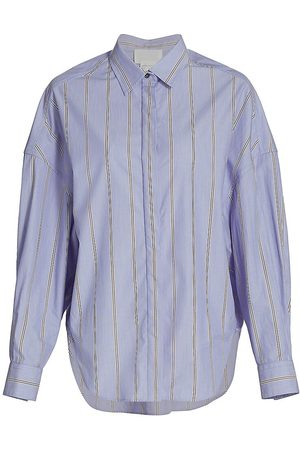 3.1 Phillip Lim Women's Stripe Cotton Shirt - Multi - Size 0