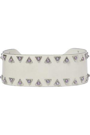 Isabel Marant Woma embellished leather belt