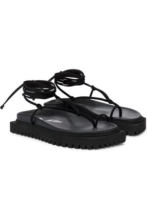The Attico Lace-up leather thong sandals