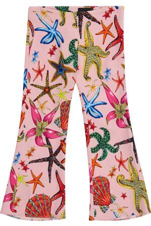 VERSACE Printed cady leggings