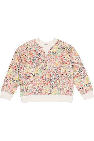 BONPOINT Girls Hoodies - Floral cotton-jersey sweatshirt