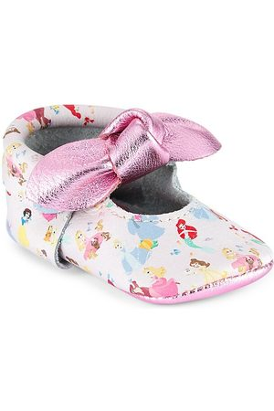 Freshly Picked Baby Girl's Princesses Knotted Bow Mini Sole Moccasins - Princesses - Size 3 (Baby)