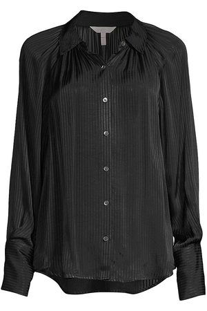 REBECCA TAYLOR Women's Shadow Stripe Blouse - - Size XS