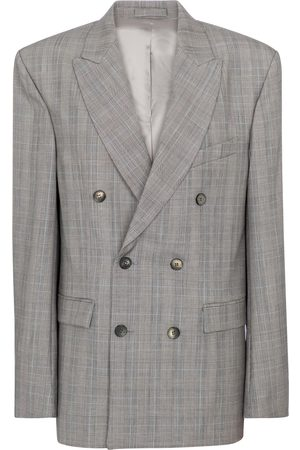 WARDROBE.NYC Checked virgin wool blazer
