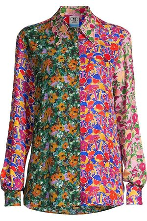 M Missoni Women's Contrast Printed Button-Up Shirt - Size 2