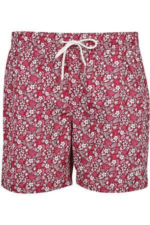 Barbour Men's Crescent Floral Swim Trunks - Raspberry - Size Medium