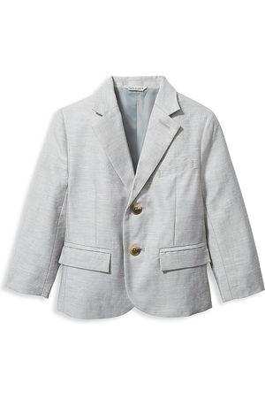 Janie and Jack Baby Boy's, Little Boy's, & Boy's Linen Blazer - Grey - Size 10