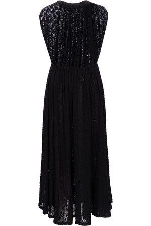 Jil Sander Women Casual Dresses - Cloqué jersey midi dress