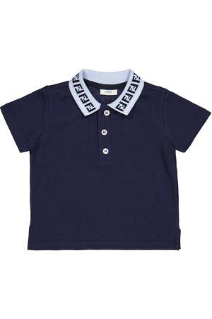 Fendi Baby FF cotton polo shirt