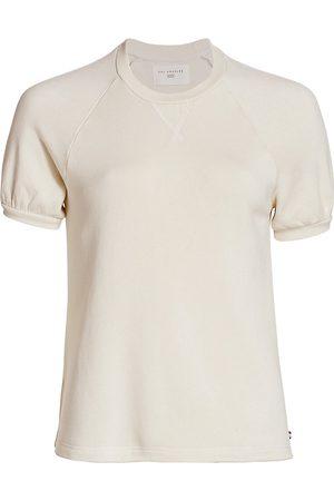 SOL ANGELES Women's Puff-Sleeve Top - Ecru - Size Small