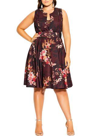 City Chic Plus Size Women's Marbella Night Fit & Flare Dress