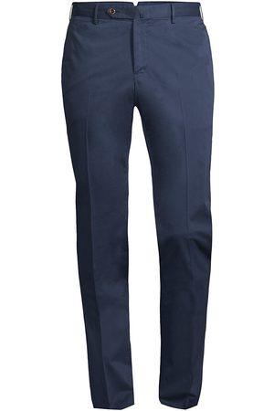 PT01 Men's Slim-Fit Stretch Flat-Front Trousers - Indigo - Size 36
