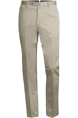PT01 Men Skinny Pants - Men's Slim-Fit Stretch Flat-Front Trousers - Soft Sand - Size 36