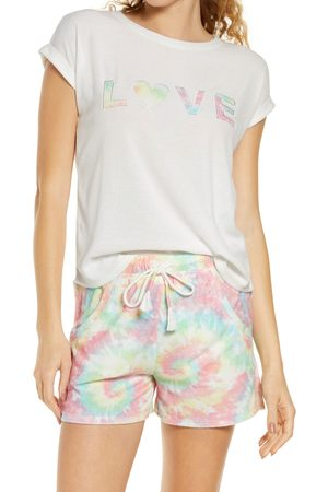 Emerson Road Women's Love Tie Dye Short Pajamas