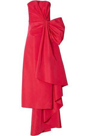 Carolina Herrera Women Strapless Dresses - Women's Strapless Side Bow Silk Gown - Azalea - Size 14