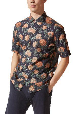 Good Man Brand Men's On-Point Print Short Sleeve Button-Up Shirt