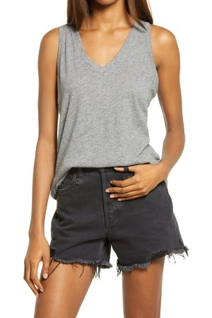 Madewell Women's Whisper Shout Cotton V-Neck Tank