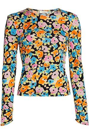 STINE GOYA Women's Joy Nova Floral Top - Water Colour Flora - Size XL