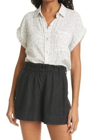 Rails Women's Whitney Short Sleeve Linen Blend Camp Shirt