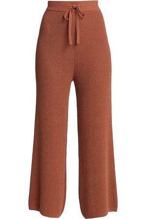 A.L.C. Women's Martell High-Rise Pants - Deep Amber - Size Small