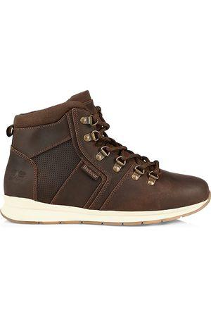 Barbour Men Outdoor Shoes - Men's Mills Hiking Boots - Dark - Size 8