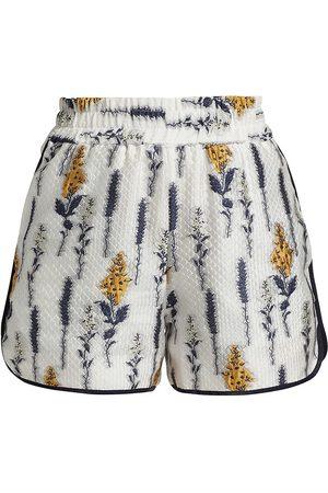 Baum und Pferdgarten Women Shorts - Women's Naomi Floral Textured Shorts - Organza Flower - Size 6
