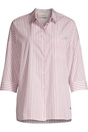 Max Mara Women Shirts - Women's Reame Striped Button-Up Shirt - Rosa - Size 8