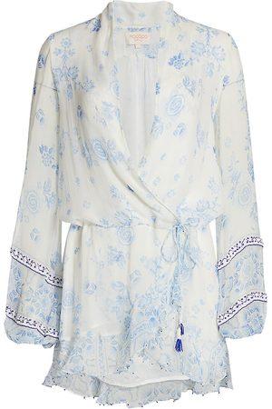 ROCOCO SAND Women's Leas Printed Wrap Dress - - Size XS