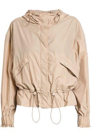 Moncler Women's Albireo Hooded Drawstring Jacket - - Size Medium