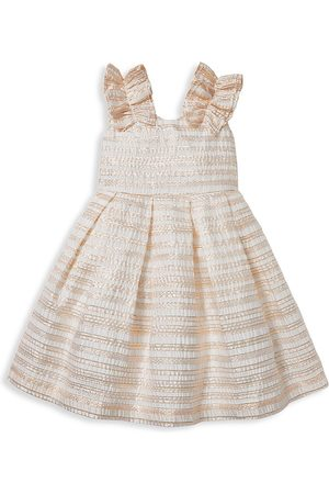 Janie and Jack Baby's, Little Girl's and Girl's Stripe Metallic Organza Dress - - Size 4