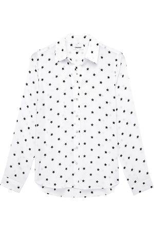 L'Agence Women Blouses - Women's Holly Polka Dot Blouse - Ecru - Size Large