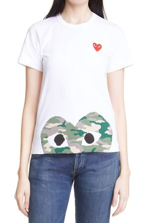 Comme des Garçons Women's Play Camouflage Heart Graphic Tee