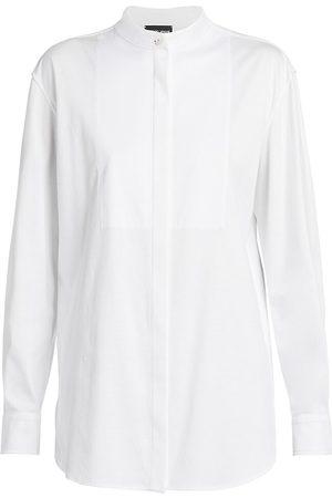 Armani Women's Jersey Tuxedo Blouse - - Size 4