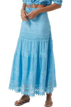 Melissa Odabash Women's Alessia Eyelet Cover-Up Maxi Skirt
