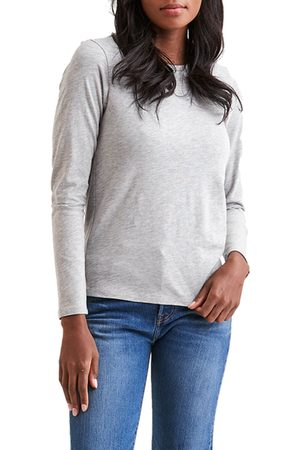 miss goodlife Women's Everyday Classics Long Sleeve Crewneck T-Shirt