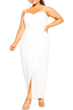 City Chic Plus Size Women's Drape Sleeveless Maxi Dress