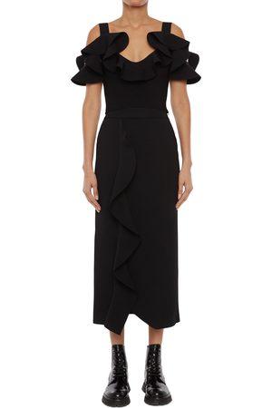 Alexander McQueen Women's Engineered Sculpted Knit Pencil Skirt