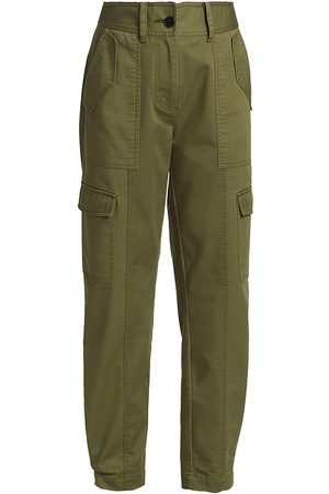 Derek Lam Women's Elian Utility Pants - Fatigue - Size 14