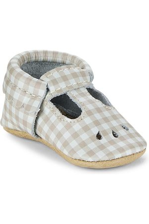 Freshly Picked Baby Girl's Almond Gingham Mini Sole Mary Jane Shoes - Almond Gingham - Size 3 (Baby)