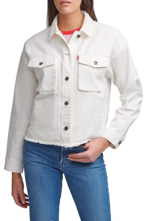 Levi's Women's Crop Raw Hem Utility Jacket